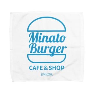 MinatoBurgerグッズ(ブルー) Towel handkerchiefs