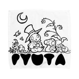 フシギの森のピュータ スタンダード Towel handkerchiefs