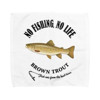 BROWN TROUT_6_4C Towel handkerchiefs