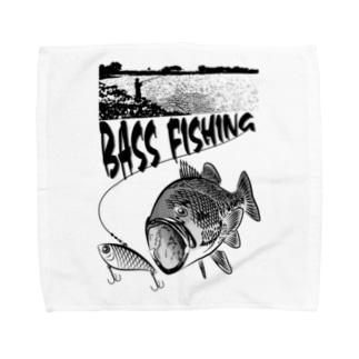 BLACK BASS2_2K Towel handkerchiefs