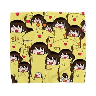 あたいちゃん×きりん はんかち(かおす)  Towel handkerchiefs