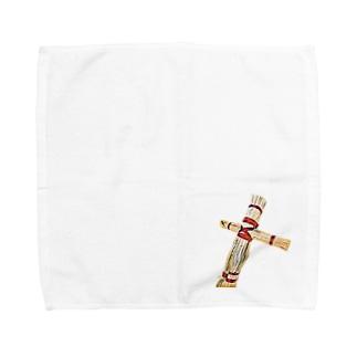 ハンドタオルタイプわら人形 Towel handkerchiefs