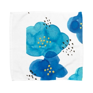 青い花 Towel Handkerchief