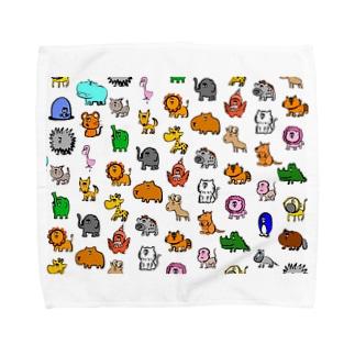 動物モノグラム Towel handkerchiefs
