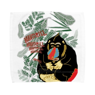 【MANDRILL】 Towel handkerchiefs