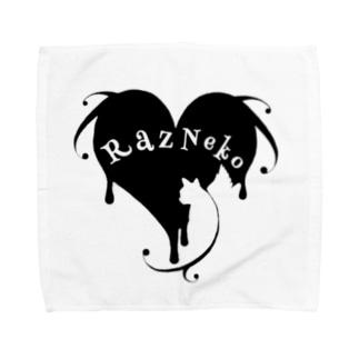 ラズ猫ロゴ Towel handkerchiefs