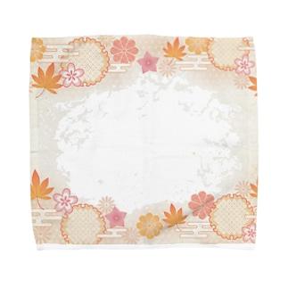 和柄(和み紅葉) Towel handkerchiefs