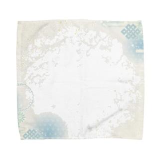 和柄(青紫陽花) Towel handkerchiefs