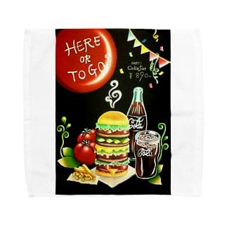sakuragiハンバーガー Towel handkerchiefs