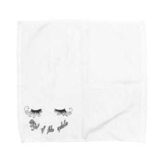 つけまつげ女子 Towel handkerchiefs