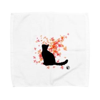 秋色ネコ Towel handkerchiefs