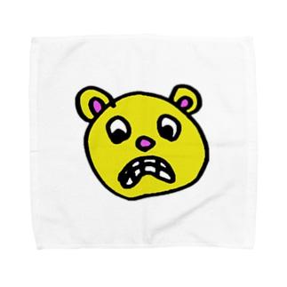 びっくりしてるクマ Towel handkerchiefs