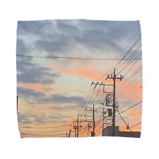 車の中からパシャリ📷 Towel handkerchiefs