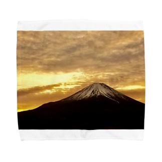 黄金の朝焼 Towel handkerchiefs