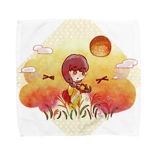 染まり始める秋色 Towel handkerchiefs