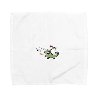 カメレオンのぐりー Towel handkerchiefs