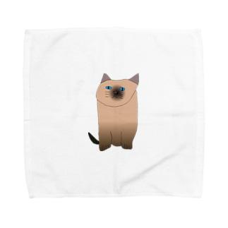 シャム猫 Towel handkerchiefs