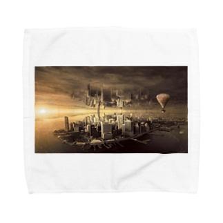 反転した街 Towel handkerchiefs