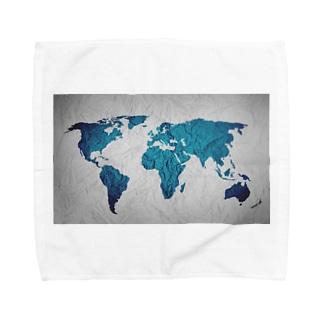 氷と水の世界地図 Towel handkerchiefs