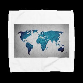 Sakura-yuanの氷と水の世界地図 Towel handkerchiefs