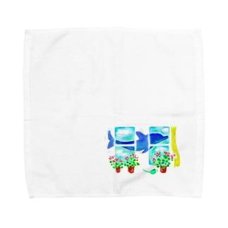 7月のイルカ Towel handkerchiefs