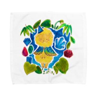 魔法の森の宝石ひつじ Towel handkerchiefs