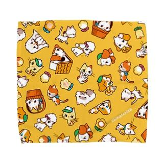 わんにゃん(黄) Towel handkerchiefs