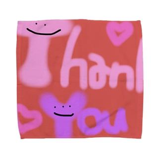 カラフルかわいいシリーズ Thank You Towel handkerchiefs