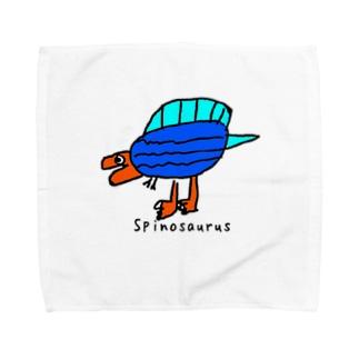 【恐竜】スピノサウルスくんカラフルVer. Towel handkerchiefs