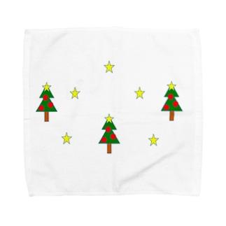 ベビーのクリスマス Towel handkerchiefs