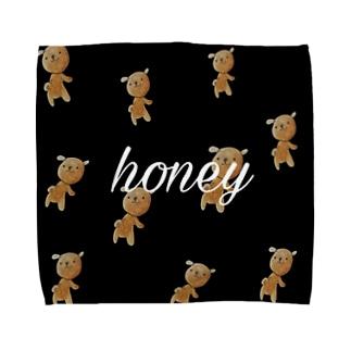 くまのキャラクターくぅーま Towel handkerchiefs