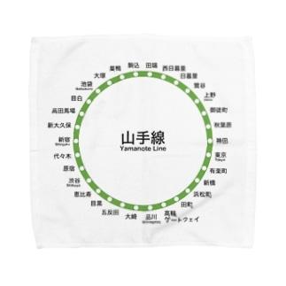 山手線の路線図シリーズ Towel handkerchiefs