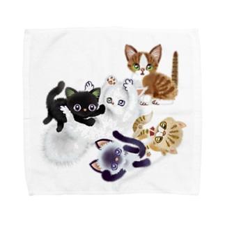 たわむれニャンズ Towel handkerchiefs