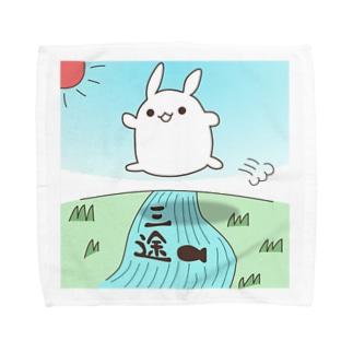 ざるそばタオルハンカチ(サンズ) Towel handkerchiefs