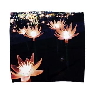 光の蓮 Towel handkerchiefs