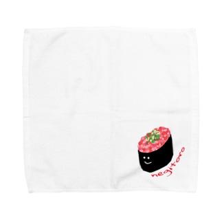 ねぎとろちゃん Towel handkerchiefs