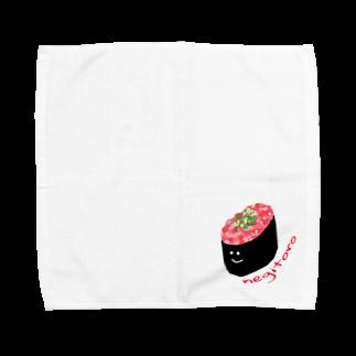 chars shopのねぎとろちゃん Towel handkerchiefs