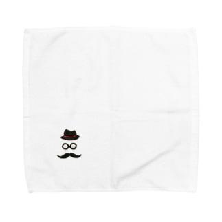 刺繍風ジェントルマン Towel handkerchiefs