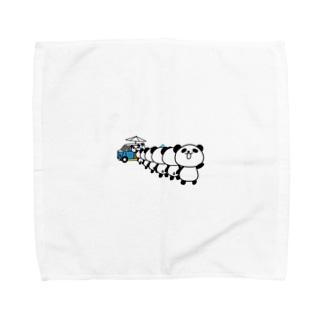 行列パンダ Towel handkerchiefs