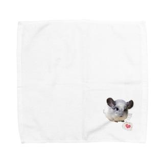 チンチラパイドのムー様 Towel handkerchiefs
