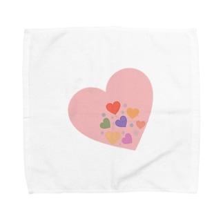 ハートに沈むハート達 Towel handkerchiefs