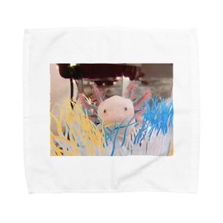 ウーパールーパー イソギンチャク Towel handkerchiefs