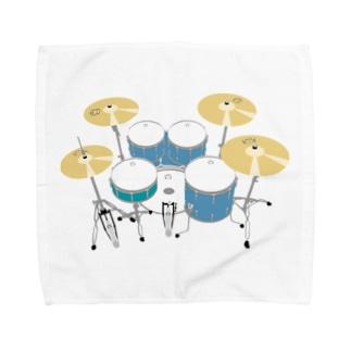 ドラムセット(ブルー) Towel handkerchiefs