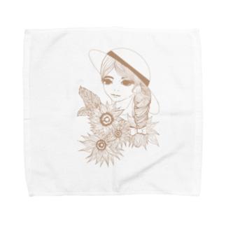 ひまわりの娘 Towel handkerchiefs