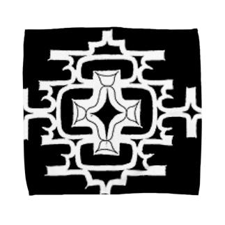 アイヌ文様2 Towel handkerchiefs