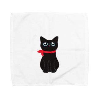 くろねこのむーちゃん Towel handkerchiefs