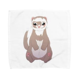 フェレットシャンペン Towel handkerchiefs