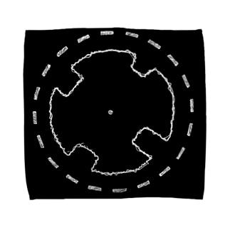 #002-塔を手折る/TowerTowel/クロ Towel handkerchiefs