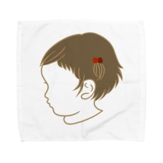 くせ毛の女のコ Towel handkerchiefs