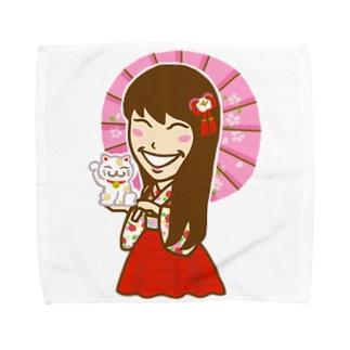 TOMOE姫 和風シリーズ Towel handkerchiefs